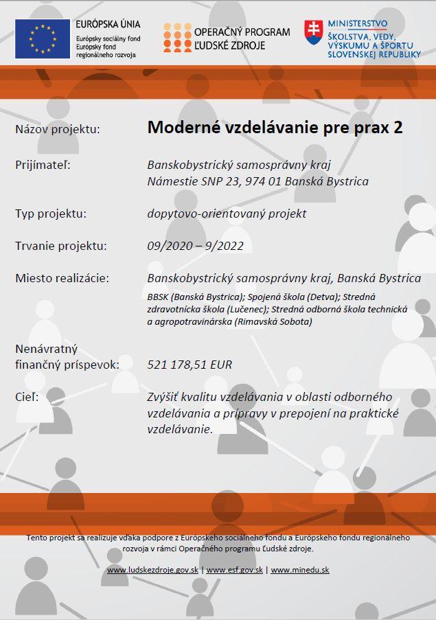 Projekt ESF Moderné vzdelávanie pre prax 2