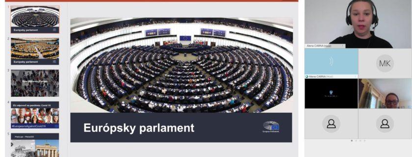 Online beseda s Európskym parlamentom